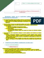 1-3- Quelle est la contribution des organisations politiques au fonctionnement de la démocratie ?