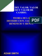 Clasicos Teoria Del Valor. Valor de Uso y Valor de Cambio.