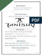 Brand Management of Tanishq