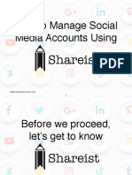 How to Manage Social Media Accounts Using Shareist