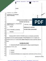 Defendant Jack D. Wooden's Answer to Complaint (Filed June 2, 2010)