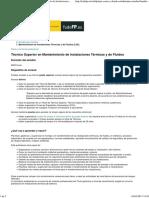 Portal Todo FP Técnico Superior en Mantenimiento de Instalaciones Térmicas y de Fluidos