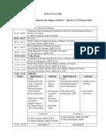 Susunan Acara IMELS 27-28 Feb 2016 Untuk Pesera