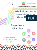 Orientacion- Evaluación de Fin de Curso-secundaria