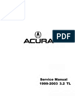 Acura 2003 Tl Owners Manual