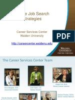 Midlife Job Search Strategies - 2016