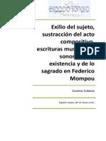 Lo sagrado en Federico Mompou