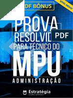 #Apostila - Prova Resolvida Para Técnico Do MPU - Administração (2017) - Estratégia Concursos