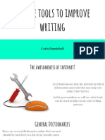 Online Tools for a Better Writing