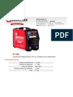 MAQUINA DE SOLDAR - CE - Electrex E 160 n943116.pdf