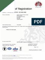 ISO 9001 2015 Pegler Yorkshire Group