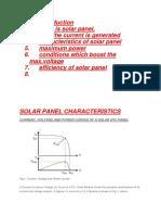 SEMINAR on Solar PV System Characteristics