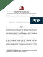 PROPOSTAS DE FONTES DE RECURSOS PARA O OGE DE 2018