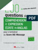 200 Questions de Comprehension Et Expression Ec...Glais Pour Sentrainerau Score IAE-Message 2017