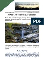 Pastor Bill Kren's Newsletter - July 9, 2017