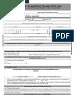 Formulario Autorizacion Para Plan de Monitoreo Arqueologico - PMA
