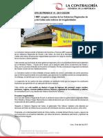NP41-2017 | Contraloría solicita al MEF congelar cuentas de los Gobiernos Regionales de Áncash y del Callao ante indicios de irregularidades