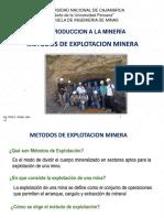 7.0 Metodos de Explotacion Minera