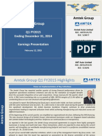 Amtek Q1 FY2015 Earnings Presentation