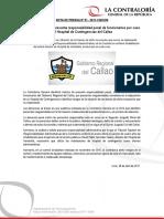 NP51-2017 | Contraloría detectó presunta responsabilidad penal de funcionarios por caso del Hospital de Contingencias del Callao