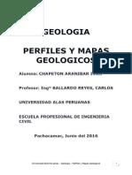 Perfiles y Mapas Geológicos
