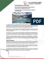 NP52-2017 | Contraloría insta al Gobierno Regional Áncash ejecutar obras de prevención en Laguna Palcacocha