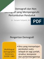 Faktor Demografi Dan Non Demografi Yang Mempengaruhi Pertumbuhan