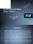 La Literatura de Mayo (1800 _ 1830) 1/2