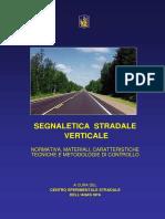 ANAS Manuale Segnaletica Verticale