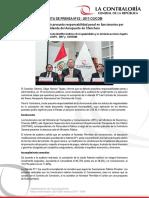 NP62-2017 | Contraloría detectó presunta responsabilidad penal en funcionarios por Adenda del Aeropuerto de Chinchero