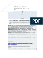 Aproximaciones a La Ética y Responsabilidad Profesional de Enfermería