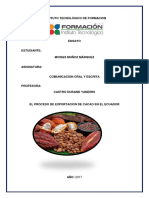 Exportacion de Cacao Ecuador