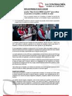 "NP68-2017 | Contraloría inicia operativo ""Mejor Servicio-MINSA Lima 2017"" para verificar atención de pacientes en hospitales e institutos de salud"