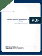 Catálogo de habilidades para la evaluación de competencias laborales - créditos
