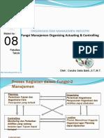 Materi 8 Organizing Actuating Controlling