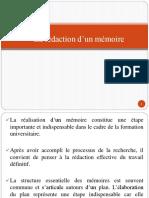 La Rédaction D_un Mémoire