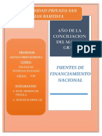 Fuentes de Financ. Nacional