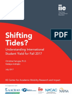 Shifting Tides? Understanding International Student Yield for Fall 2017