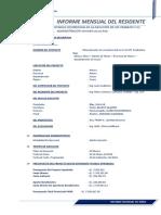 Informe Mensual Residente 01 Mayo 2016