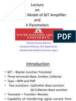 Hemant Ppt New Dc Ac Model h Parameters of Bjt