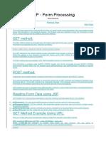 JSP Form Processing