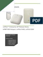 CnPilot E400E500 Indoor and EPMP 1000 Hotspot Release Notes 3.2-b19