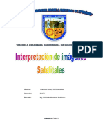 Informe Interpretacion de Imagenes Satelitales
