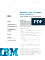 Mastering New Challenges in Text Analytics