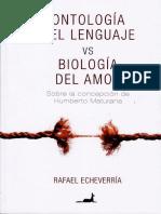 Ontología Del Lenguaje vs Biología Del Amor