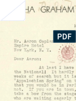 Martha Graham letter to Aaron Copland, May 1, 1945
