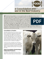 Horizontal Consolidation and Buyer Power in the Beef Industry