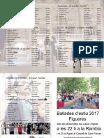 Programa de ballades estiu 2017