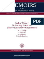(Memoirs of the American Mathematical Society 1085) a. L. Carey, V. Gayral, A. Rennie, F. a. Sukochev-Index Theory for Locally Compact Noncommutative Geometries-Amer Mathematical Society (2014)