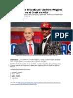 Cleveland Se Decanta Por Andrew Wiggins en El Draft de NBA
